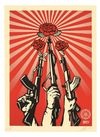 Shepard Fairey - Gund And Roses, 2019