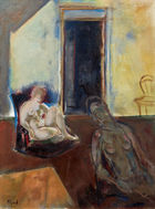 im Kinsky Kunst Auktionen GmbH - Josef Floch, Studio with waiting nudes