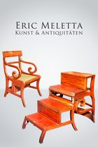 metamorphic library chair, England um 1815