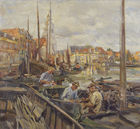 Galerie Auktionshaus Hassfurther - Carl Fahringer, Hafen in Hoorn