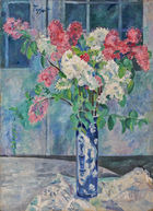 ◊ Georg Tappert - Flieder in hoher Vase