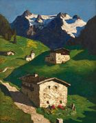 Galerie Auktionshaus Hassfurther - Alfons Walde, Frühling in Tirol