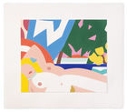 WESSELMANN, TOM ◊ Sunset Nude With Yellow Tulips