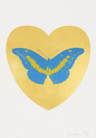 HIRST, DAMIEN ◊ I Love You - Gold Leaf/Turquoise/Oriental Gold
