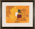 Composition jaune, orange et verte, 1957
