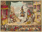 Venator & Hanstein - J. Gillray. Pacific Overtures, - or - a Flight from St. Clouds - over the Water to Charley … 1806. Kolor. Radierung.