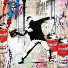 BRAINWASH auch Thierry Guetta (MBW), Mr. ◊ Banksy Thrower (with Captain America)