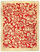 Fairey, Shepard ◊ Floral Takeover (Red/Cream), 2017