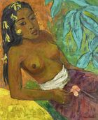 Kunsthaus Lempertz - Han Snel, Female semi nude with flowers in her hair, around 1959