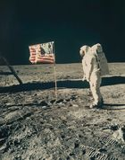 Kunsthaus Lempertz - NASA, Buzz Aldrin beside the Stars and Stripes, 1969
