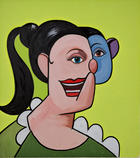 George Condo, Girl with Ponytail, 2009