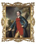 Joseph Wright of Derby, Portrait Francis Burdett in Jagdmontur mit Reitgerte, 1794