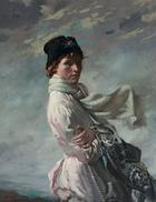 William Orpen, In Dublin Bay: Portrait of the Artist's Wife