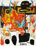 Jean-Michel Basquiat, Rubber, 1985