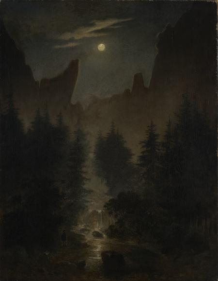 Caspar David Friedrich, Uttewalder Grund, um 1825
