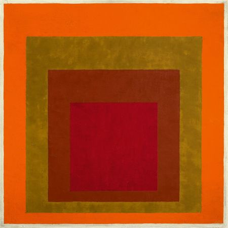 Josef Albers, Study to Homage to the Square: Warm Welcom, 1953/55