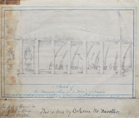 Sketch of the burying place of a king of Benin